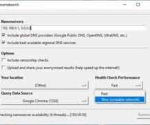 Namebench для Windows 10 на русском