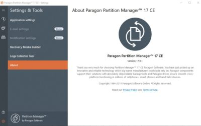 Paragon Partition Manager 17.9.1 CE + ключик активации