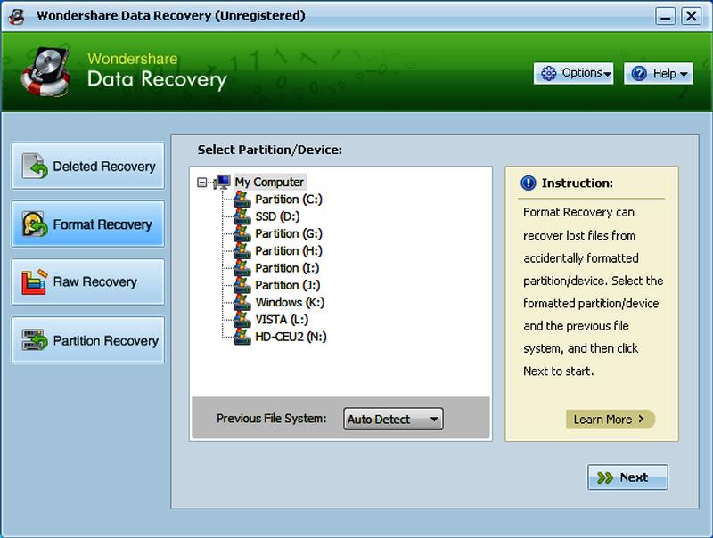Serial Key Wondershare Data Recovery